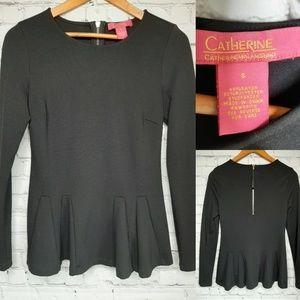 Catherine Malandrino peplum shirt top size S